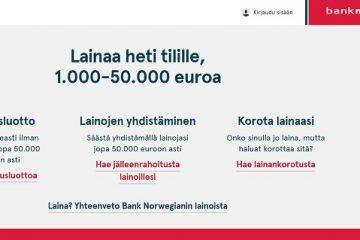 Bank Norwegian kokemuksia ja arvostelut tästä pankkijättiläisestä