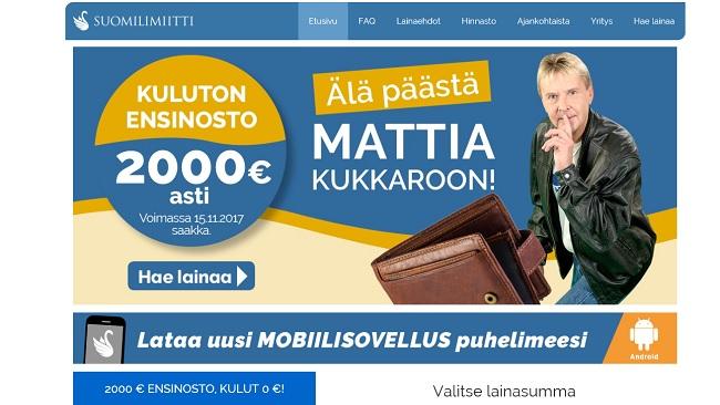 Suomilimiitti ja Matti ovat kavereita: nyt saat kaksi tonnia ilman kuluja. Mäkihyppy kannattaa!