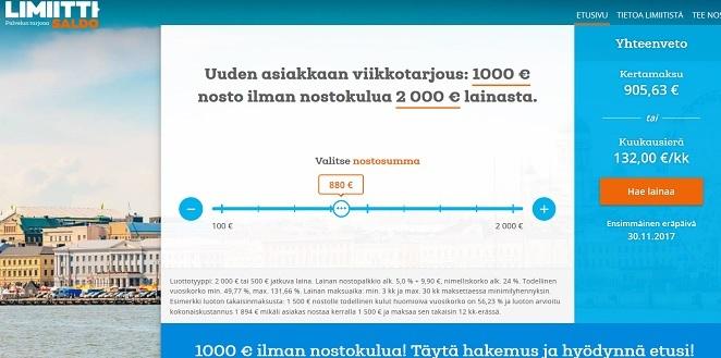 Limiitti.fi - laina, joka kestää, venyy ja jatkuvaa: luottotili toisin sanoen!