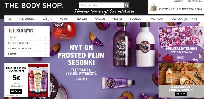 The Body Shop on kosmetiikan verkkokauppa, josta on loistavat kokemukset monen vuoden ajalta.