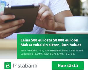 Saat nyt pankkilainaa uudesta verkkopankista alennetulla korolla.