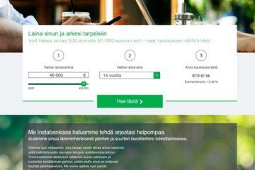 Instabank kokemuksia pankin uudesta rahoituksesta