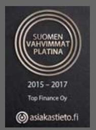 Suomen vahvimmat -Platina statuksen saanut Top Finance Oy
