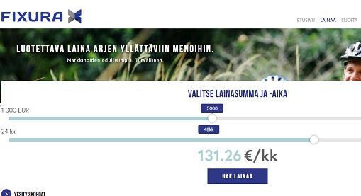Fixura kokemuksia Suomen vanhimmasta vertaislainasta. Lainaa ja säästä kuluissa!
