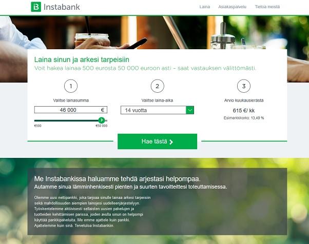 Instabank kokemuksia tästä pankkilainasta, joka mullistaa digitaalisen lainaamisen tuuman verran entistä enemmän.